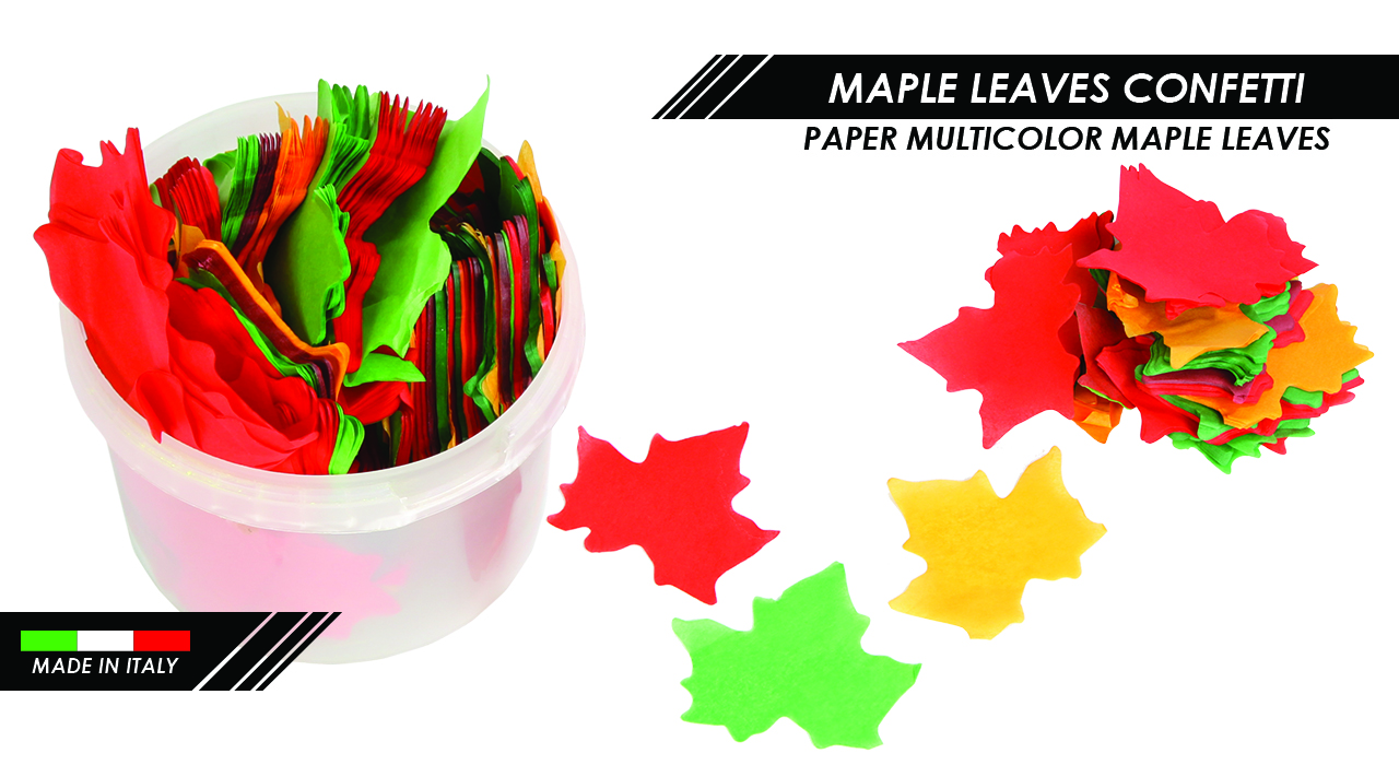 PAPER MULTICOLOR MAPLE LEAVES CONFETTI