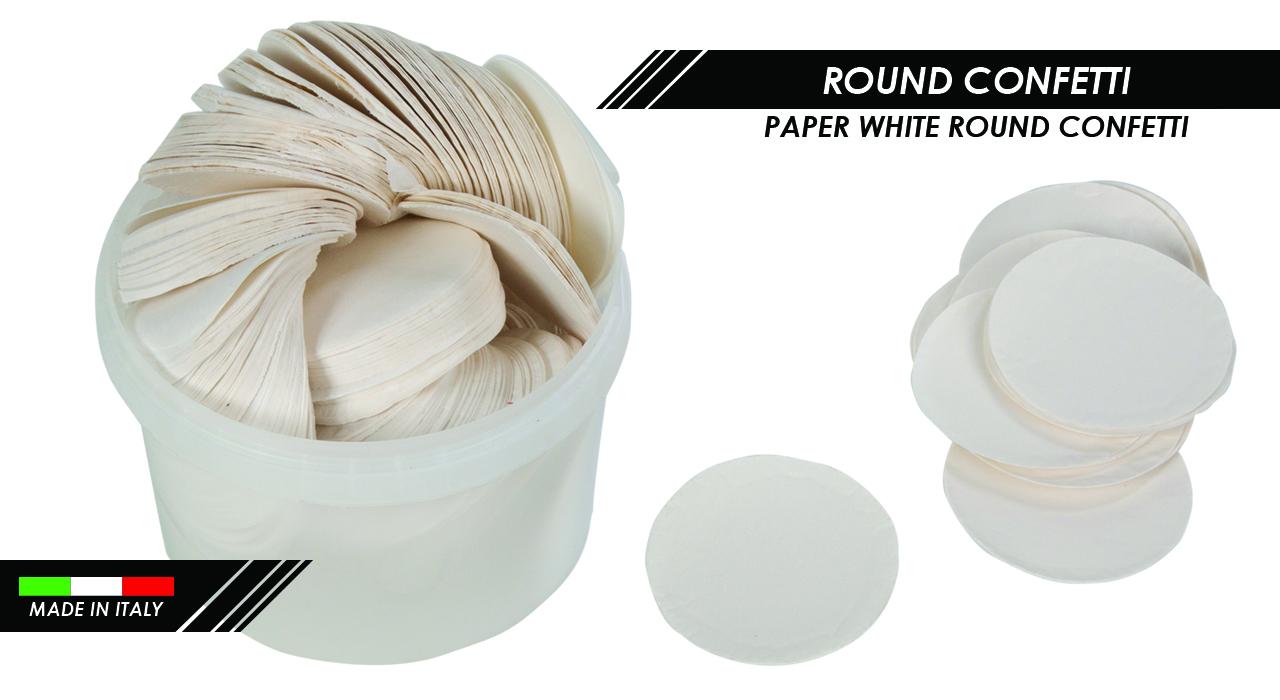 PAPER WHITE ROUND CONFETTI