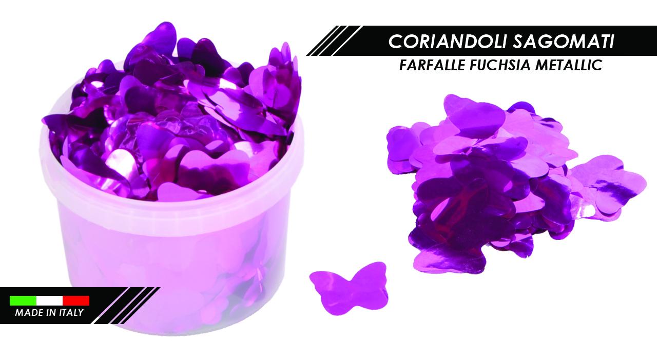 CORIANDOLI FARFALLE FUCHSIA METALLIC