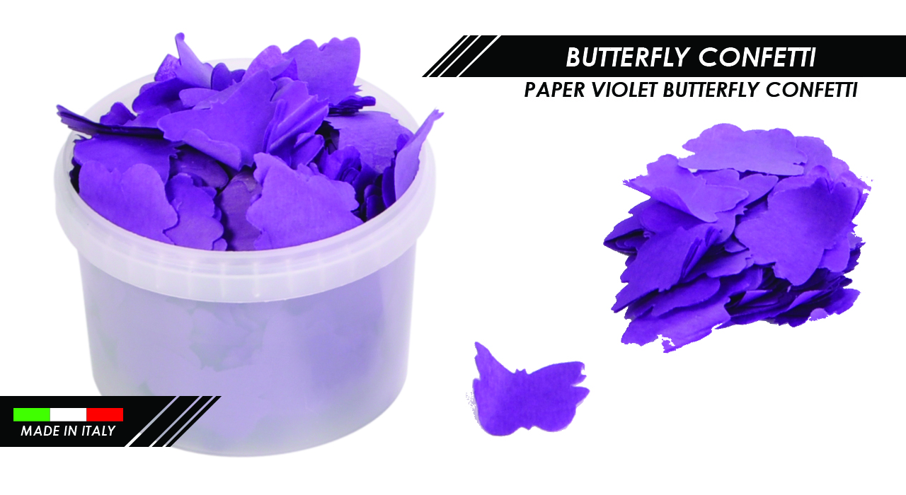 PAPER VIOLET BUTTERFLY CONFETTI