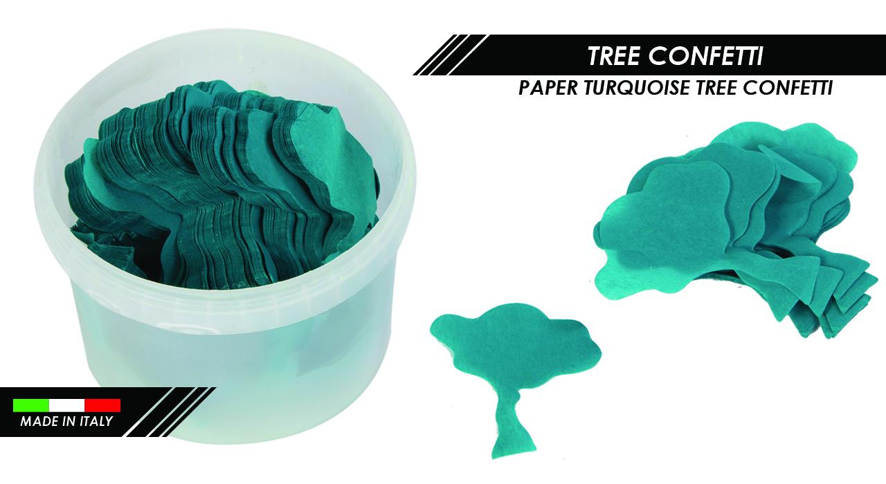 PAPER TURQUOISE TREE CONFETTI