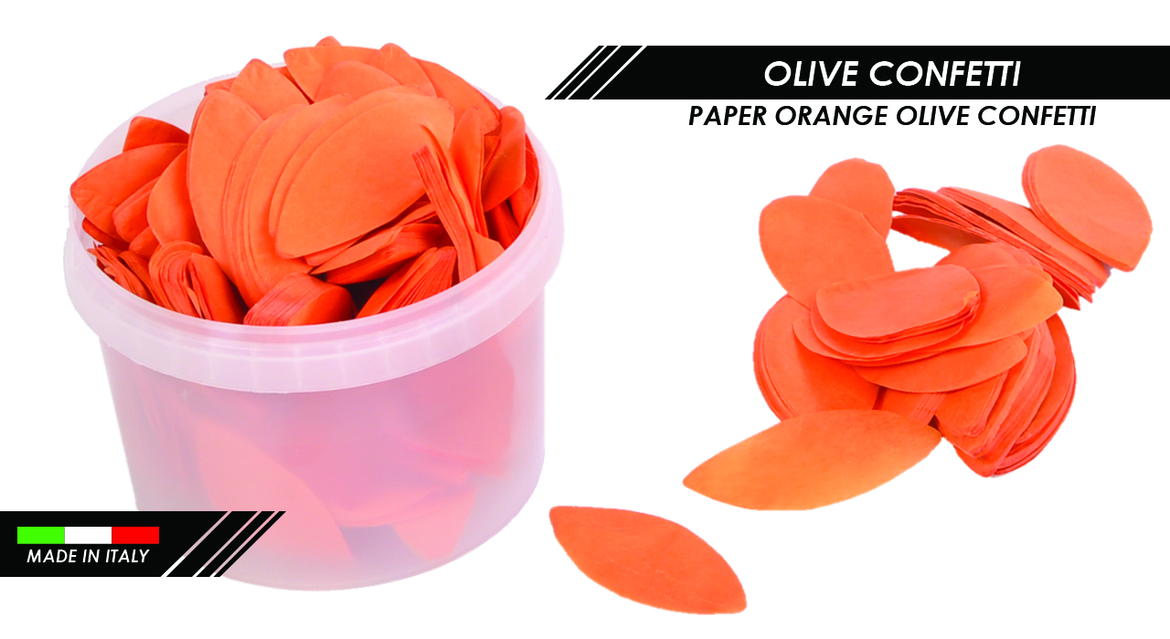 PAPER ORANGE OLIVE CONFETTI