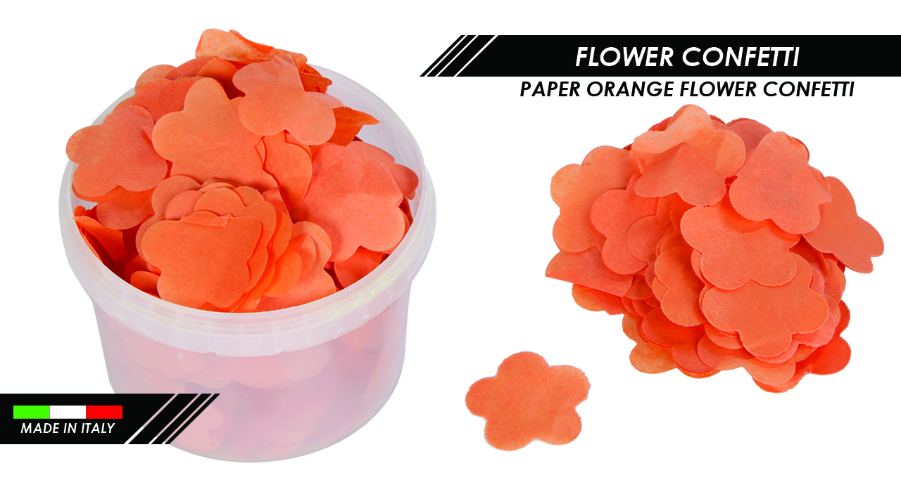 PAPER ORANGE FLOWER CONFETTI