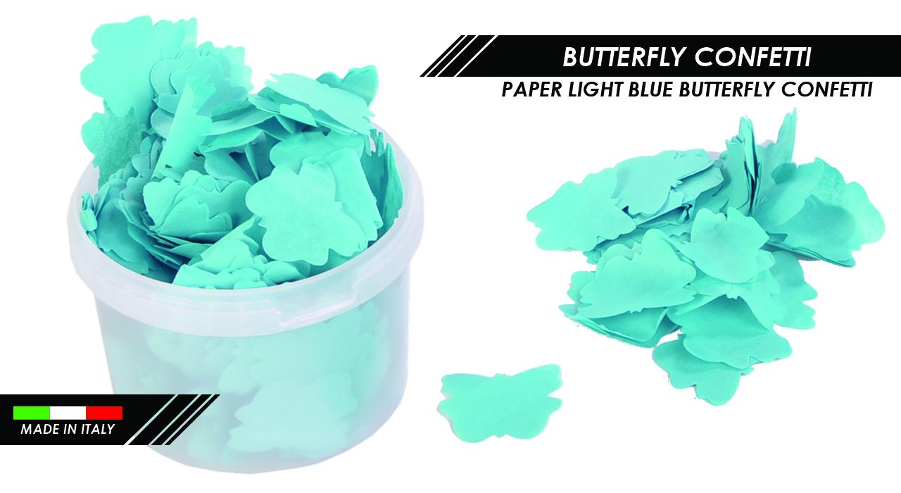 PAPER LIGHT BLUE BUTTERFLY CONFETTI