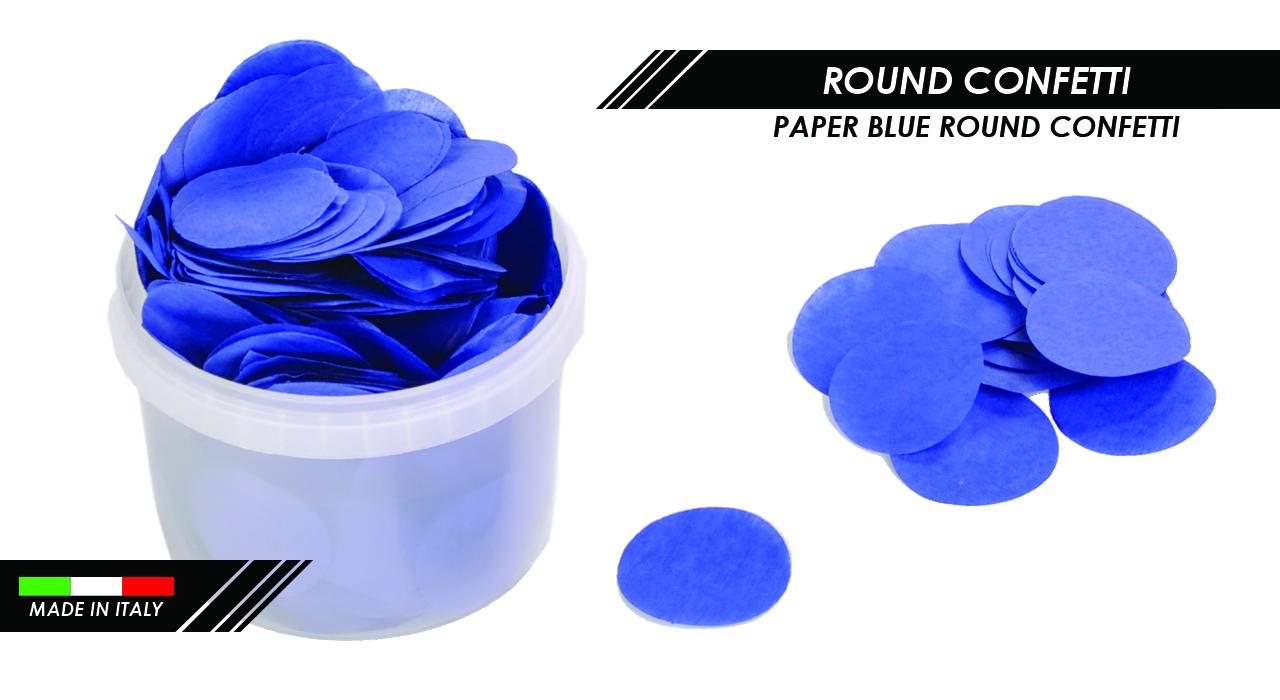 PAPER BLUE ROUND CONFETTI