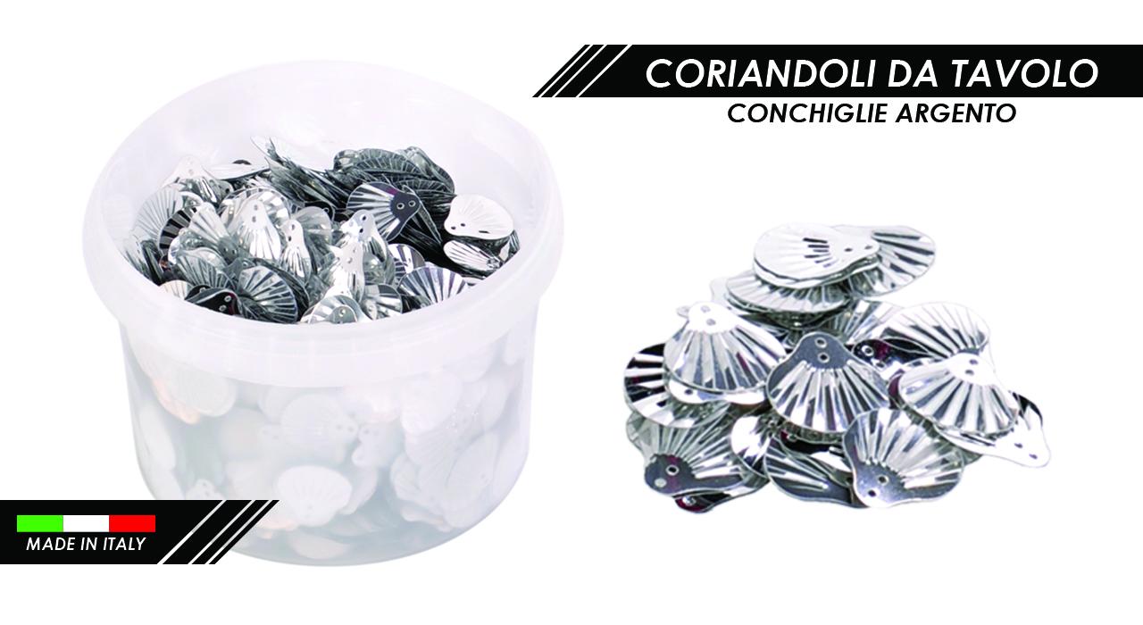 CORIANDOLI CONCHIGLIE ARGENTO