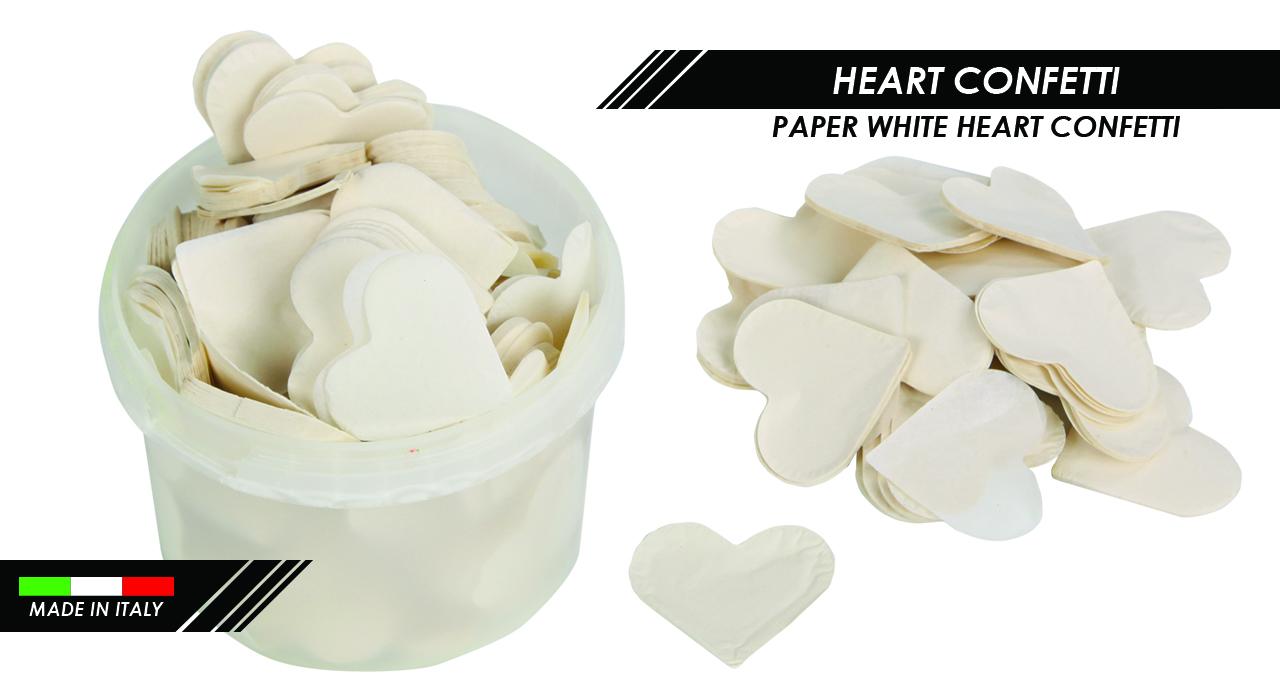 PAPER WHITE HEART CONFETTI