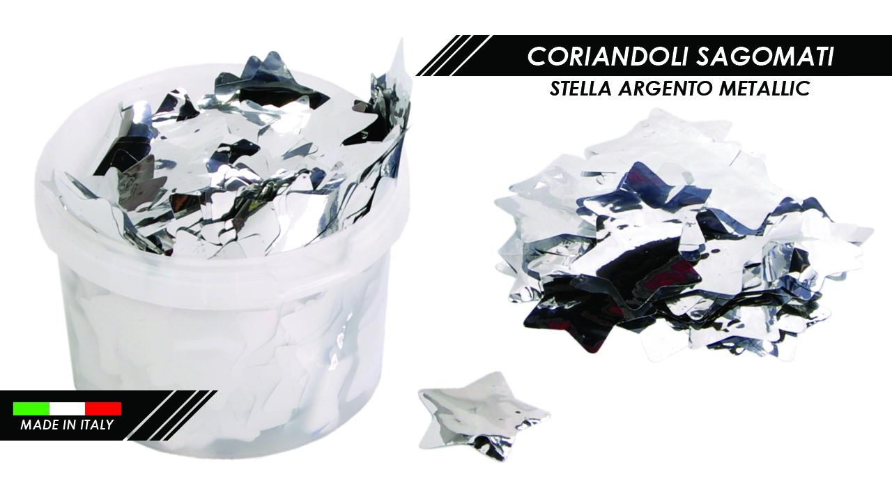 CORIANDOLI STELLA ARGENTO METALLIC