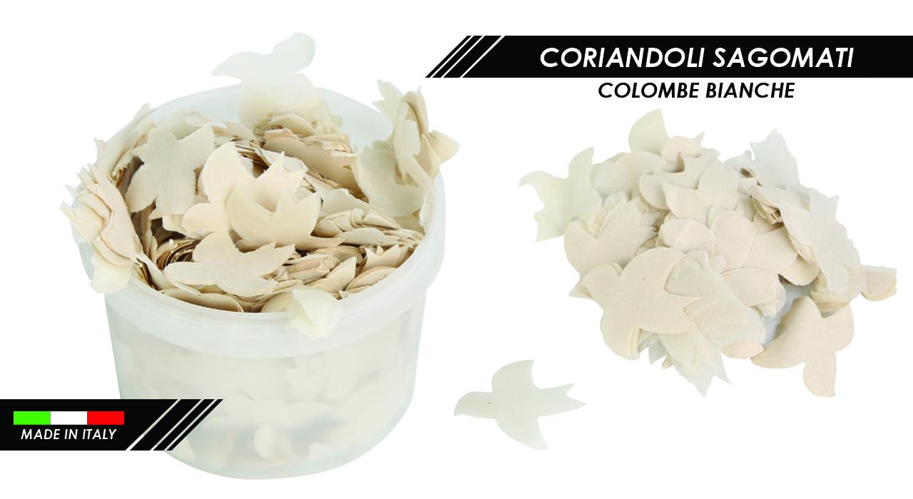 CORIANDOLI COLOMBE BIANCHE