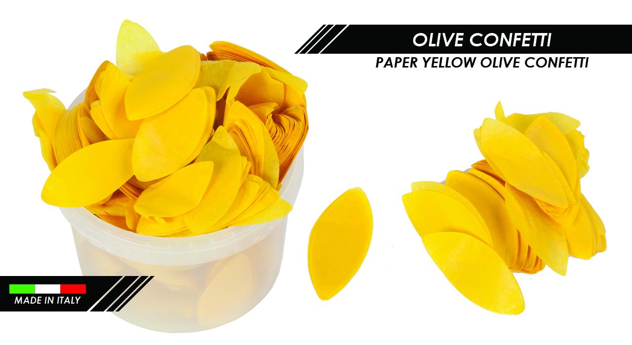 PAPER YELLOW OLIVE CONFETTI