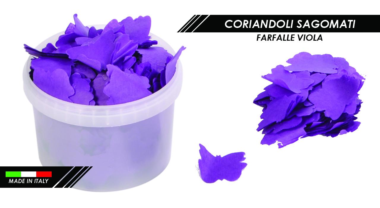 CORIANDOLI FARFALLE VIOLA