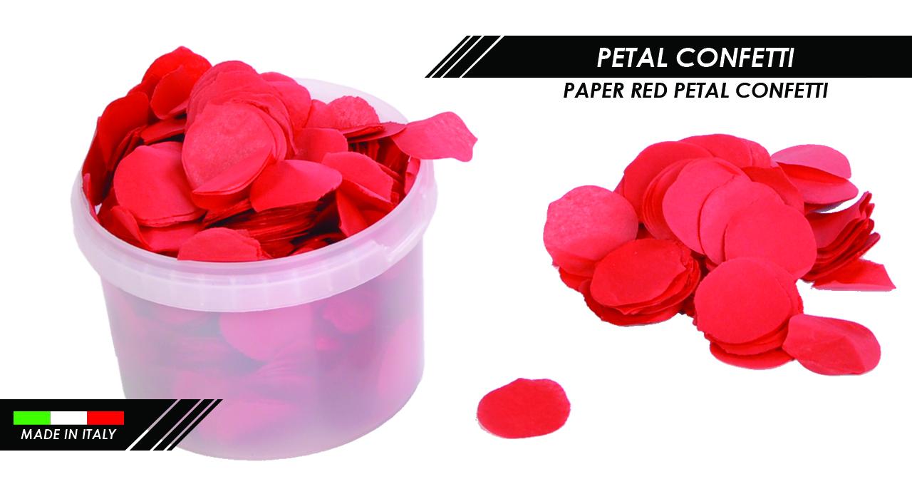 PAPER RED PETAL CONFETTI