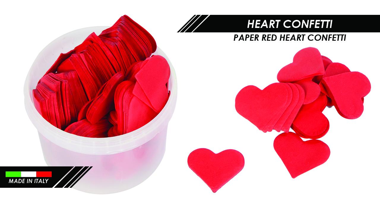 PAPER RED HEART CONFETTI