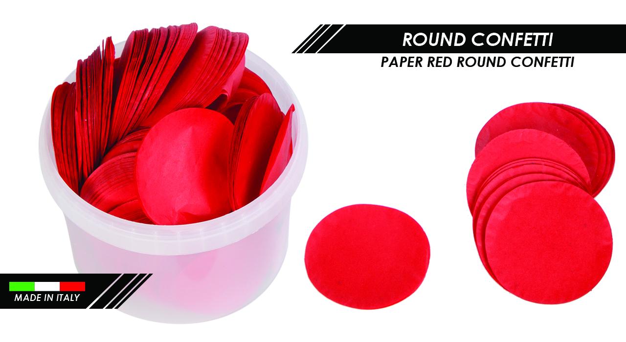 PAPER RED ROUND CONFETTI